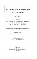 The History of the Kings of England and of His Own Times PDF