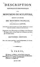 Description historique et chronologique des monumens de sculpture, réunis au Musée des monumens français