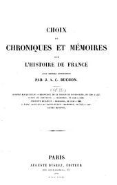 Choix de chroniques et mémoires sur l'histoire de France: XVIe siècle