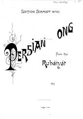 Song from the Rubáiyát of Omar Khayyám (Fitzgerald's Version): Op. 40