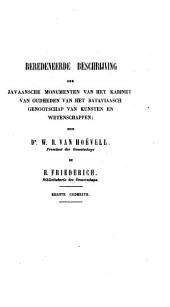 Beredeneerde beschrijving der Javaansche monumenten van het kabinet van oudheden van het Bataviaasch Genootschap van Kunsten en Wetenschappen