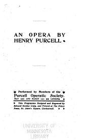 Dido & Aeneas: An Opera