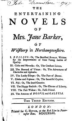 The Entertaining Novels of Mrs  Jane Barker  of Wisthorp in Northamptonshire