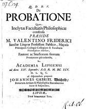 De probatione