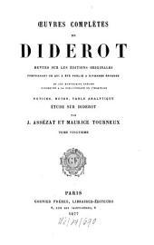 Oeuvres complètes de Denis Diderot, revues sur les éditions originales comprenant ce qui a été publié à diverses époques et les manuscrits inédits conservés à la Bibliothèque de l'Ermitage0: XX