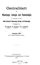 Neues Jahrbuch für Mineralogie, Geologie und Paläontologie: Monatshefte