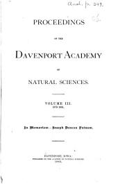 Proceedings of the Davenport Academy of Natural Sciences: Volume 3