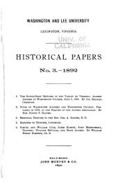 Historical Papers: Volume 3