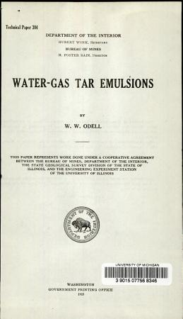 Water gas Tar Emulsions PDF
