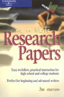 How To Write Research Papers Book PDF