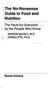The No nonsense Guide to Food and Nutrition PDF