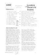 London Theatre Index PDF