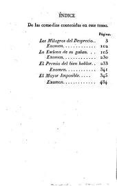 Comedias escogidas de Frey Lope Felix de Vega Carpio: El Premio del bien hablar. El Mayor imposible (1828. 235-489 p.)