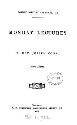 Boston Monday lectures