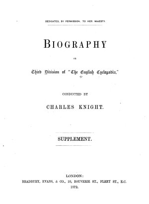 The English Cyclopaedia  Division  Biography  6v  and Suppl PDF
