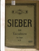 36 Eight-measure Vocalises for Class Or Private Practice