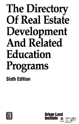 The Directory of Real Estate Development and Related Education Programs PDF