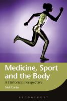 Medicine  Sport and the Body PDF