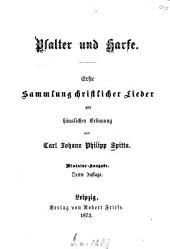 Psalter und Harfe: ... Sammlung christlicher Lieder zur häuslichen Erbauung, Band 1