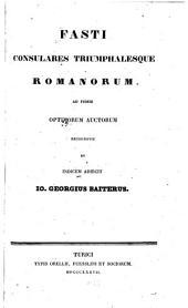 Fasti consulares triumphalesque romanorum