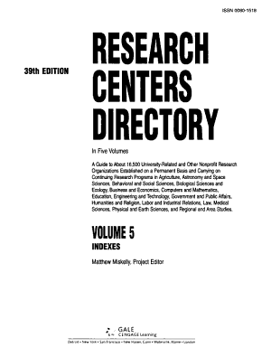 Research Centers Directory PDF