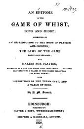 An epitome of the game of whist, long and short