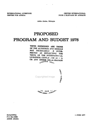 Proposed Programme and Budget PDF