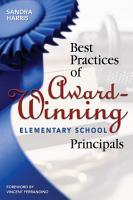 Best Practices of Award Winning Elementary School Principals PDF