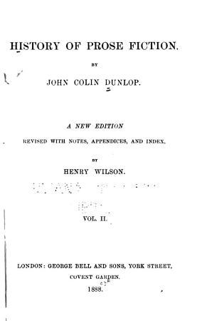 History of Prose Fiction PDF