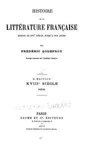 Histoire de la littérature française depuis le XVIe siècle jusqu'à nos jours: Volume6