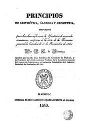 Principios de aritmética, álgebra y geometria
