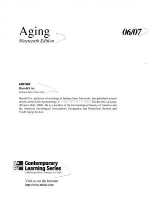 Annual Editions  Aging PDF