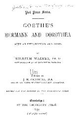 Goethe's Hermann and Dorothea, with an Introduction and Notes