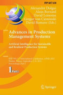 Advances in Production Management Systems  Artificial Intelligence for Sustainable and Resilient Production Systems PDF