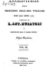 Annali d'Italia dal principio dell' era volgare sino all' anno 1750: Volume 1