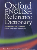 The Oxford English Reference Dictionary Book PDF
