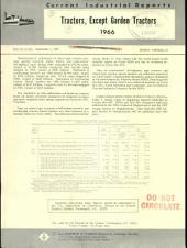 Current Industrial Reports: Tractors (except garden tractors). M35S