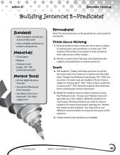 Writing Lesson Level 1--Building Sentences Predicates