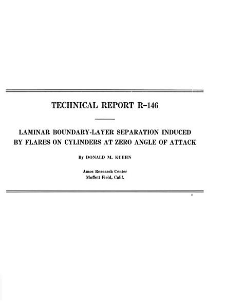 Laminar Boundary layer Separation Induced by Flares on Cylinders at Zero Angle of Attack PDF