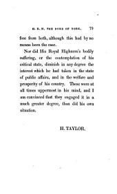 The Last Illness and Decease of His Royal Highness the Duke of York: Being a Journal of Occurrences which Took Place Between the 9th of June, 1826 and the 5th of January, 1827