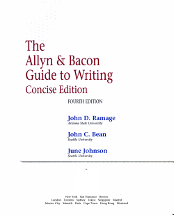 The Allyn   Bacon Guide to Writing PDF