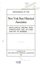Proceedings of the New York State Historical Association: Volume 5