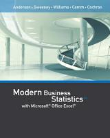 Modern Business Statistics with Microsoft Office Excel  with XLSTAT Education Edition Printed Access Card  PDF