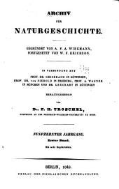 Archiv für Naturgeschichte: Band 15