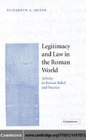 Legitimacy and Law in the Roman World PDF