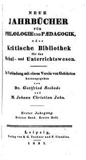 Jahnscher Jahrbücher für Philologie und Paedagogik: Bände 3-4