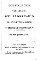 Prontuario Alfabético y Cronológico de las Instrucciónes, Ordenanzas... no recopiladas...