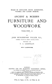 Ancient & Modern Furniture and Woodwork: Volume 1