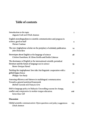 Linguistic Inequality in Scientific Communication Today PDF