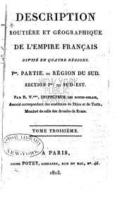 Description routière et géographique de l'empire Français divisé en quatre régions: Volume10